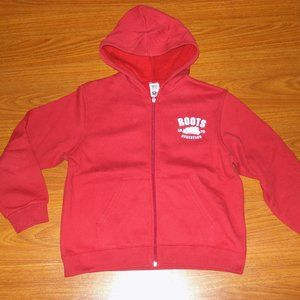 New! Roots red zip up hoodie sweater kids (L)